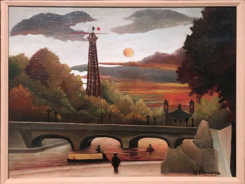 ルソー「エッフェル塔とトロカデロ宮殿の眺望」 (プレスツアーのため、特別に撮影を許可れています)